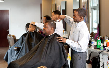 No Grease Barber Shop for JCSU Bulletin Magazine